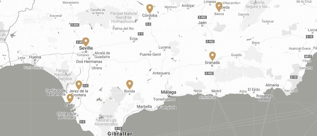Mapa Tren Al Andalus